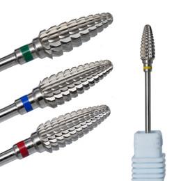 "File Cuticle Remover Australia - nail file drill bit High end Ceramic Carbide Milling Cutters For Manicure Cuticle Remover Pedicure Drill Machine Bit 3 32"" 2.35mm"