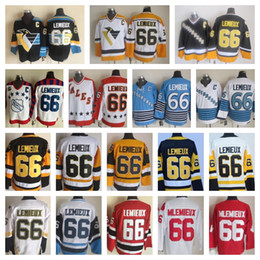 lemieux 66 jersey Australia - Best Quality Vintage Pittsburgh Mario Lemieux Jerseys Mens #66 Mario Lemieux Hockey Jersey All Star Yellow Black Stitched Shirts C Patch