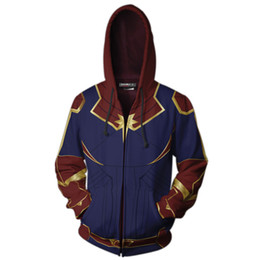 women s skeleton costumes UK - Avengers 4 Endgame Quantum Realm 3D Print Hoodies Super hero hoodies Men women Zipper Sweatshirts Coat for trendy clothing
