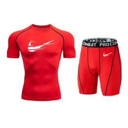 $enCountryForm.capitalKeyWord UK - Nouveau Fitness Fitness Compression Set Hommes 3DMMA Imprimer Crossfit Muscle manches courtes + Short Mode respirant Set manches