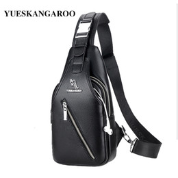 $enCountryForm.capitalKeyWord Australia - YUES KANGAROO Brand Men Chest Bag Single Messenger Bags Leather Travel Crossbody Casual Double Zipper Chest Pack Shoulder BagMX190907