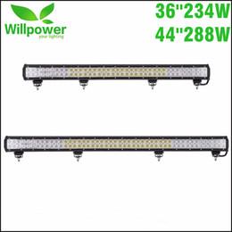 "Discount car campers - 36'' 44"" 234W 288W LED Light Bar 12V 24V Car Auto Truck Trailer Wagon Camper 4X4 Offroad 4WD AWD UTE Pick"