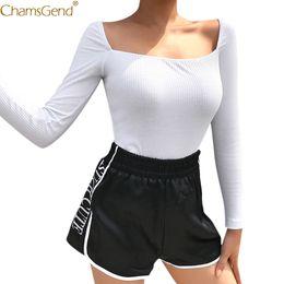 $enCountryForm.capitalKeyWord Australia - Fashion Solid White Square Neck Jumpsuit Summer Bodysuit Women Rompers Womens Jumpsuit Elegant Short Long Sleeve Backless Jul