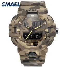 $enCountryForm.capitalKeyWord Australia - SMAEL Brand New Camouflage Military Sport Watches Army LED Quartz Clock Male Waterproof Sport Wristwatch