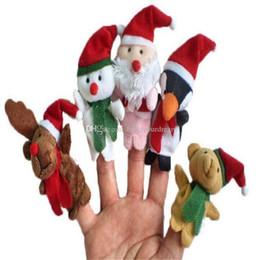 Toys Finger Australia - Cartoon Christmas Santa Claus Finger Toys Puppet Plush Toy Snowman Bear Dolls For Kids Baby Children Gift 5Pcs set aa141-147 2018011710