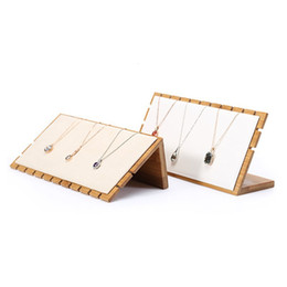 $enCountryForm.capitalKeyWord Australia - High-end bamboo 10-slot necklace pendant earrings display rack jewelry rack jewelry props