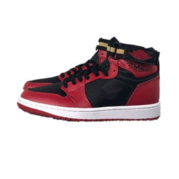 bf59f90d363a8a 2019 New Best quality Brand 30th 1 strap bred 3M Black Red Basketball Shoes  for Mens Uptempo Trainers ports Sneakers Size 40-45