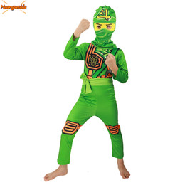 $enCountryForm.capitalKeyWord Australia - Ninjago Cosplay Costume Kids Green Clothes Sets Children Costume for Kids Fancy Party Dress Ninja Cosplay Superhero Suits Green SH190908