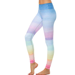 $enCountryForm.capitalKeyWord NZ - Fitness Yoga Sports Leggings For Women Sexy Rainbow Leggings Sports Gym Yoga Workout Fitness Lounge Athletic Pants YG306 #288836