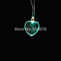 flash dancing Australia - LED Party lanyard multicolor light up heart lanyard flash necklace Xmas Christmas Birthday Dancing Party