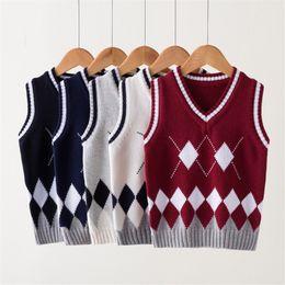 Girls Vest Knitting Australia - Autumn Winter Boy Outerwear Coats Vest Boy Girl Kids Clothes School Coat Knitting Jacket Children Clothing Teenager Baby Sweater