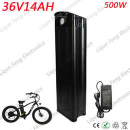 $enCountryForm.capitalKeyWord NZ - Free Tax 36V 14AH 500W Bicycle Battery 36 V Silver Fish Battery With 42V 2A Charger 36V Electric Bike Battery Bottom Discharge.