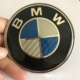 $enCountryForm.capitalKeyWord Australia - 82mm CARBON FIBER BMW LOGO FRONT EMBLEME For Hood & Trunk Replacement with 2 Pins