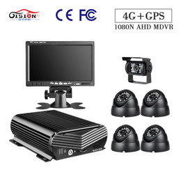 Wholesale GISSON CH N G GPS HDD Mobile DVR Kit Video Surveillance Security PC Playback Inch VGA Monitor Bus Truck Camera