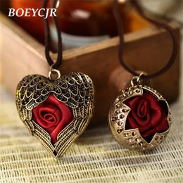 Pendants Strings Australia - dhgate 2 Styles Available Scarf Rose Heart Shape Pendant Necklace Rope Chain Vintage Jewelry Necklace for Women Gift 2018
