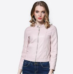 Women S Fashion Motorcycle Jackets Australia - 2019 New Fashion Women Casual Motorcycle Faux Soft Leather Jackets Female spring Autumn Black Pink Coat Outwear Hot Sale
