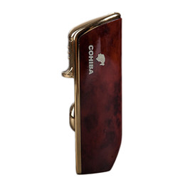 China New Arrival Wholesale COHIBA Accessories Pocket Quality Metal Snake Mouth Shape Butane Gas Windproof 3 Torch Jet Flame Lighter W Punch suppliers