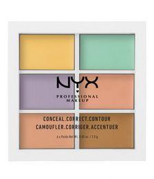 Natural Cover Makeup Canada - NYX Makeup Conceal Correct Contour 6 Color Perfect Cover Dark Circle Removing Brighten Cream Concealer Camoufler Corriger Accentuer 6*1.5g