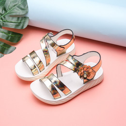 New Children's Pu Leather Sandals Girls Princess Shoes In The Big Boy Open Toe Roman Shoes 2020 Summer Baby Sandals Tide