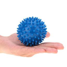 $enCountryForm.capitalKeyWord NZ - Wholesale-Popular 90mm Light weight Yoga Balls Blue Spiky Massage Ball for Hand Feet Body Building Balls Professional Fitness Equipment