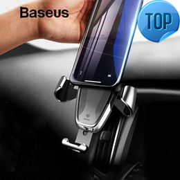 $enCountryForm.capitalKeyWord NZ - Gravity Car Holder For Iphone Samsung Cell Mobile Phone Holder 360 Degree Gps Air Vent Mount Clip Car Phone Holder Stand