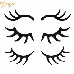weaving eyelashes NZ - air accessories 2019 Birthday Ornament Black Non-woven Felt Horse Horn Cake Eyelash Decoration Kids DIY Hair Accessories For Women Horn H...