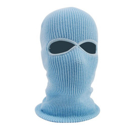 Wholesale Winter Thermal Fleece Full Face Mask Warmer Cycling Hood Liner Sports Ski Bike Bicycle Snowboard Face Hat Cap Colors