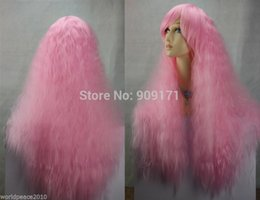 $enCountryForm.capitalKeyWord Australia - free Shipping *** cos About 60-70cm pink long curly cosplay full wig Lady Girls Cosplay Peluca Products WIGS