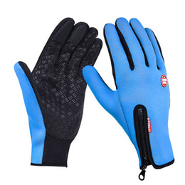 $enCountryForm.capitalKeyWord NZ - Outdoor Sports Hiking Winter Bicycle Bike Cycling Gloves For Men Women Windstopper Simulated Leather Soft Warm Gloves by DHL