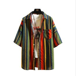 $enCountryForm.capitalKeyWord NZ - Mens T Shirt Men Tshirt Summer Designer Male Korean Youth Slim Striped 2019 New Shirts Five-point Sleeve Clothing Colors Tees Casual T-shirt