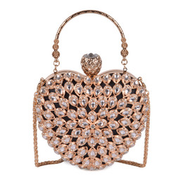 bridal hand bag ivory 2019 - Pink sugao Women Evening Clutch Bag Gorgeous Pearl Crystal Beading Bridal Wedding Party Bags CrossBody Handbags love pac