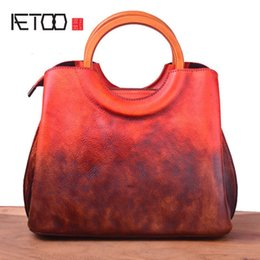 $enCountryForm.capitalKeyWord Australia - AETOO Leather women's stiletto bag, pure hand-painted head layer cowhide women's bag, vintage craft trend handbag