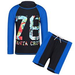 $enCountryForm.capitalKeyWord UK - wholesale Black Long Sleeves Lycra Boy Rash Guards Letter Swimsuit UPF50+ UV Swim Clothes Boys Bathing Suit for Kids 4-14