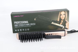 best hair straightener wholesale UK - Lescolton Hair Straightener Electric Hair Comb Brush Auto Fast Hair Massager Tool hairs straightener DHL Best Quality