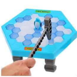 $enCountryForm.capitalKeyWord Australia - HOT Save Penguin Ice Kids Puzzle Game Break Ice Block Hammer Trap Party Toy Cherryb