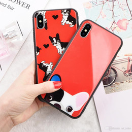 Case Tpu Heart Australia - Mytoto Smooth cute dog Love Heart case for iPhone 6 6S 7 8 Plus X Soft TPU Glossy Phone Back Cover Cases