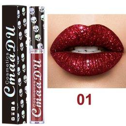 Mixing Red Purple Lipstick Australia - CmaaDu 8 Colors Glitter Liquid Lipstick 3.5ml Rouge a levre Waterproof Lip Gloss Lipgloss maquillage Kit