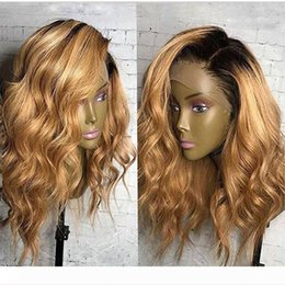 lace front 1b 27 UK - Fantasy Beauty Honey Blonde Human Hair Wigs Ombre Lace Front Wig 1B 27 360 Lace Frontal Wigs Loose Wave Full Lace Wigs