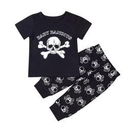e37d1b9ec Newborn Kids Baby Boys Pirate Printing Outfits Clothes Babies Casual Short  Sleeve T-shirt Tops Printing Pants 2PCS Clothing Set