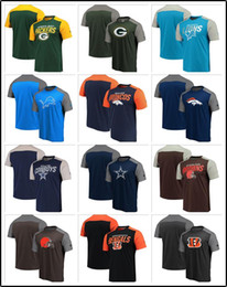 block brown Australia - New 2020 Sweatshirt Top Quality Men T Shirts Bengals Browns Cowboys Broncos Lions Packers Iconic Color Blocked Shirt Cotton