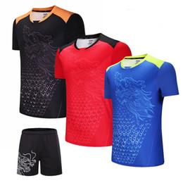 Sportswear T Shirt Badminton Australia - China Dragon Tennis T shirt Men , Women Table Tennis Shirt , Quick Dry Badminton T-shirt ,Gym Sportswear Clothing uniforms