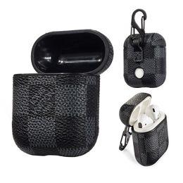 Роскошный PU кожаный чехол для наушников для Apple Airpods Защитная крышка Крючок Застежка брелок Anti Lost Модный дизайнер airpods чехол на Распродаже