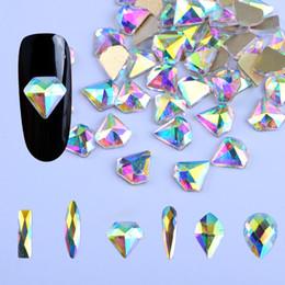 $enCountryForm.capitalKeyWord Australia - 10pcs White AB Nail Rhinestones Horse Eye Waterdrop Diamond Crystal Glitter Nail Stones DIY 3d Design Art Decorations BE532