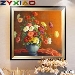 $enCountryForm.capitalKeyWord Australia - Diamond embroidery flower orchid vase diy diamond painting cross stitch kit resin full round&square diamond mosaic home decoration A10071