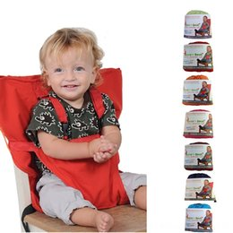 infant feeding chairs UK - Kids Chair Travel Foldable Washable Infant Dining High Dinning Cover Seat Safety Belt Feeding booster seat for baby high chair