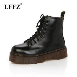 3dbbca92eee7 2019 Autumn Fashion Red Black Ankle Boots for Women Shoes Punk Short  Motorcycle Leather Boots Platforms Woman Ladies Shoes