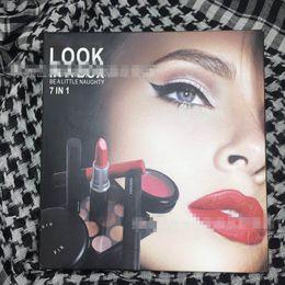 $enCountryForm.capitalKeyWord Australia - Brand Makeup Gift Set 7 in 1 Matte Lipstick + Eyeshadow+Liquid Lip Gloss+Blush+Fix Face Set Makeup Kit with Box Gift Hot Kit