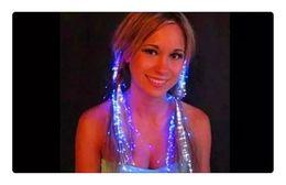 $enCountryForm.capitalKeyWord Australia - Colorful Flash LED Light Up Hair Braid Shine Decoration Flash Glow LED Gadgets Hair Masquerade For Party Holiday