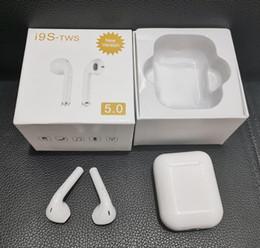 Vente en gros I9S Tws 5.0 Écouteur Casque Avec Fenêtre pop-up Stéréo TWS Écouteurs Pour IOS Android Téléphone Avec Boîte De Recharge Sans Fil Bluetooth Casque