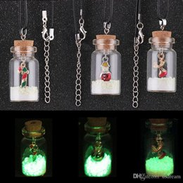 Reindeer Pendants Australia - Christmas Necklace Glow in the Dark Christmas Tree Reindeer Santa Snowman Drift Bottle Necklace Pendants Will and Sandy Drop Ship 380089